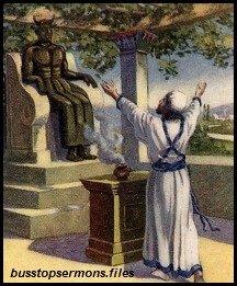 King Ahaz worships the god Baal.