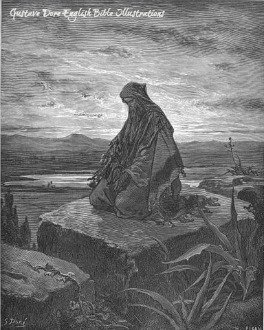 Gustav Dore depicts Isaiah in solitary prayer.