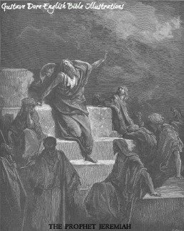 The prophet Jeremiah as depicted by Gustave Dore.