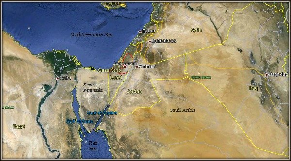 The history of Israel played out in the Middle East lands of today.