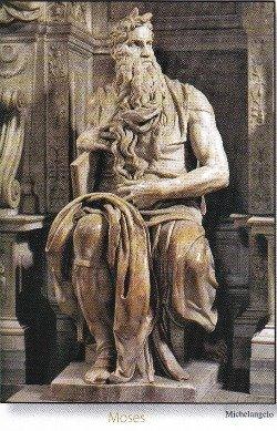 Michaelangelo's Statue of Moses.