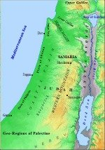 Map of Palestine Geography
