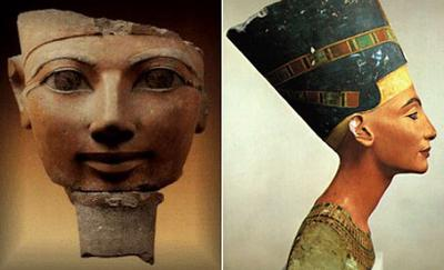 Bust of Queen Nefertiti, 1350 BC, Egyptian Museum, Berlin