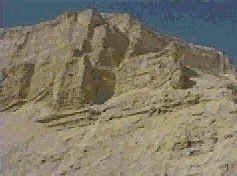 Strange formations in the cliff sides around the Dead Sea. Some claim these are the walls of the great Sodomite society God destroyed.